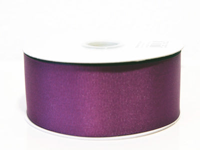 1-1/2 inch Plum Grosgrain Ribbon Solid Color 25 Yards