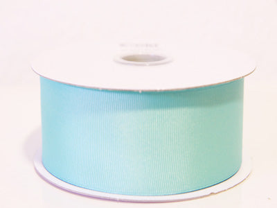 1-1/2 inch Aqua Blue Grosgrain Ribbon Solid Color 25 Yards