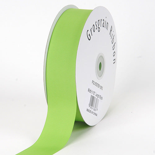 Apple Green - Grosgrain Ribbon Solid Color - ( W: 3/8 Inch | L: 50 Yards )