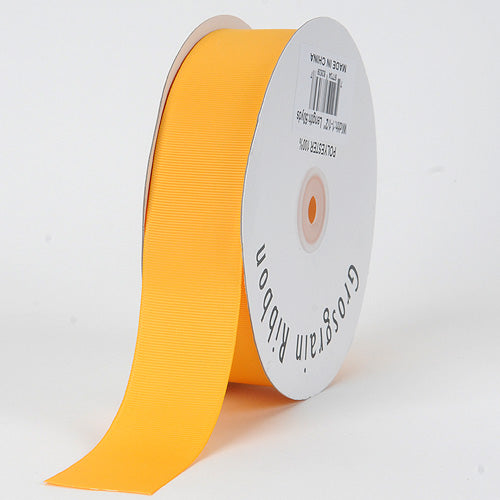 7/8 inch Light Gold Grosgrain Ribbon Solid Color