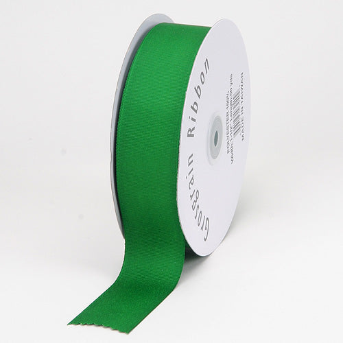 3/8 inch Emerald Grosgrain Ribbon Solid Color