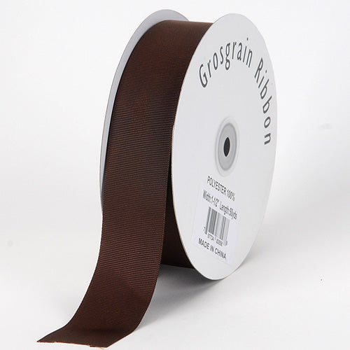 3/8 inch Chocolate Brown Grosgrain Ribbon Solid Color