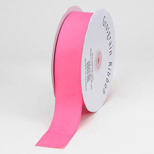 7/8 inch Hot Pink Grosgrain Ribbon Solid Color