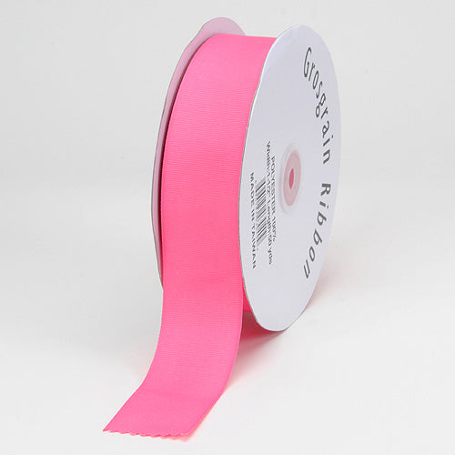 3/8 inch Hot Pink Grosgrain Ribbon Solid Color