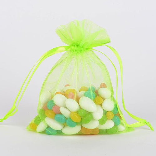 Apple Green - Organza Bags - ( 6 x 9 Inch - 10 Bags )