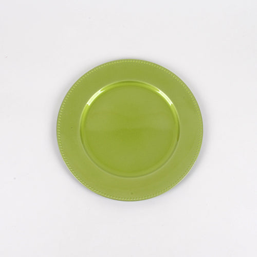 Apple Green - 13 Inch Round Charger Plates ( Pack of 6 )