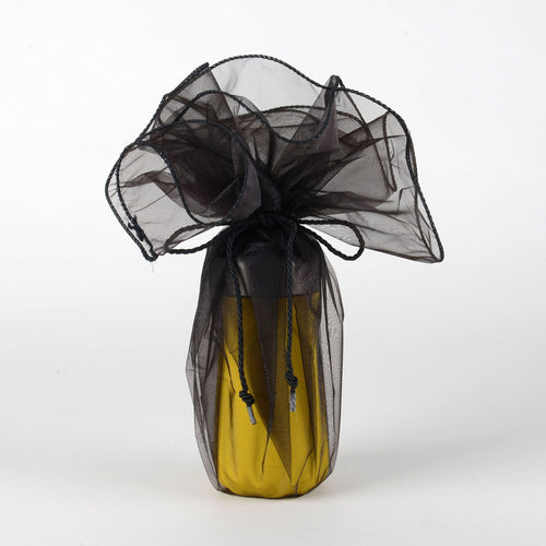 Organza Wrapper with Cord - Black