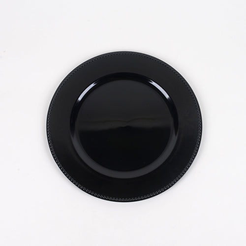 13'' Black Round Charger Plates - Pack of 6