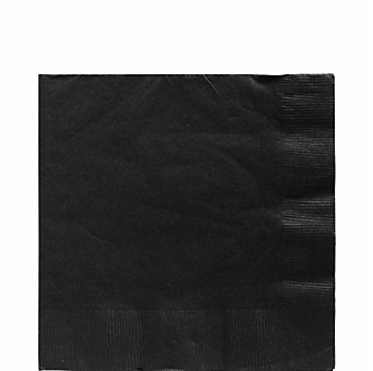 Black luncheon paper napkins 50pcs