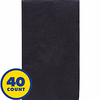 Black Party Pack Guest Towels 40pcs