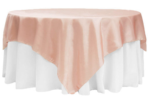 Blush - 60 x 60 Satin Table Overlays - ( 60 x 60 Inch )