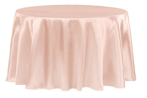 Blush - 108 inch Satin Round Tablecloths