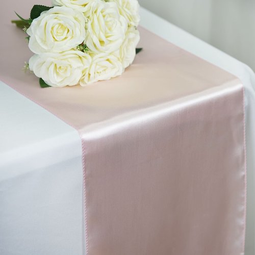 Blush - 12 x 108 inch Satin Table Runner