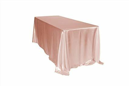 Blush 90 Inch x 132 Inch Rectangular Satin Tablecloths