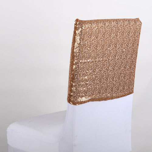 Gold Duchess Sequin Chair Top Covers