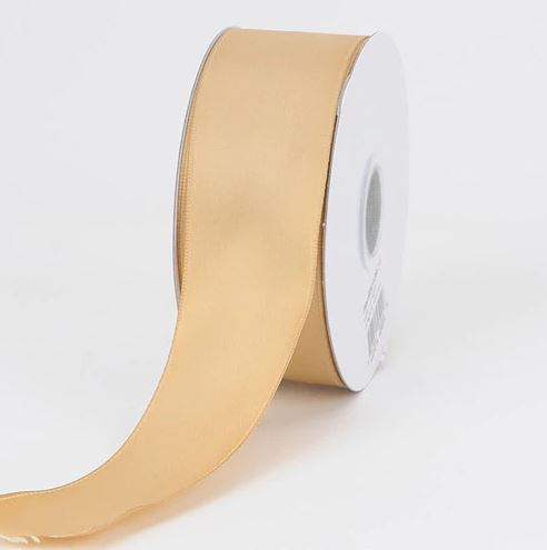 Gold - Satin Ribbon Double Face - ( W: 1-1/2 inch | L: 25 Yards )