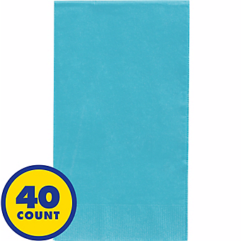 Caribbean Blue Party Pack Guest Towels 40pcs
