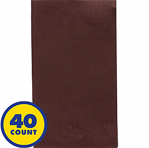 Chocolate Brown Party Pack Guest Towels 40pcs