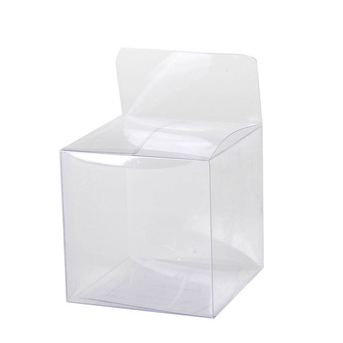Clear Plastic Box 2.4''x2.4''x2.4'' - Pack of 12 Boxes