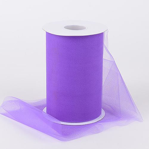 Purple - Premium Quality Nylon Tulle 100 Yards ( W: 6 Inch | L: 100 Yards )