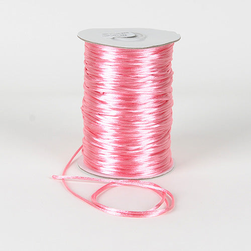 Pink - 2mm Satin Rat Tail Cord - ( 2mm x 200 Yards )
