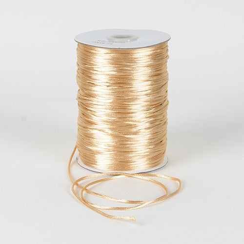 Tan - 2mm Satin Rat Tail Cord - ( 2mm x 200 Yards )