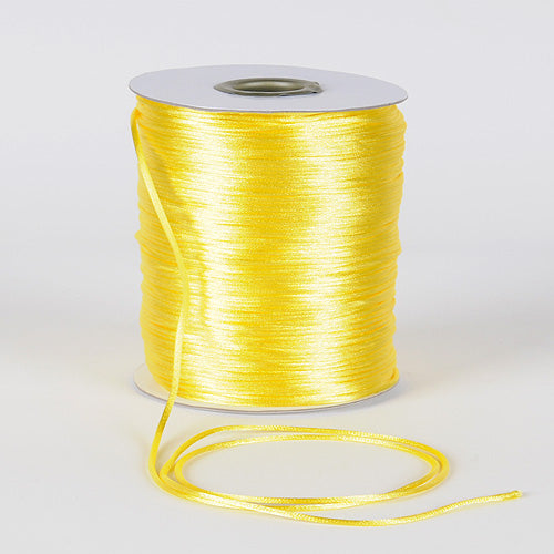 Canary - 2mm Satin Rat Tail Cord - ( 2mm x 200 Yards )