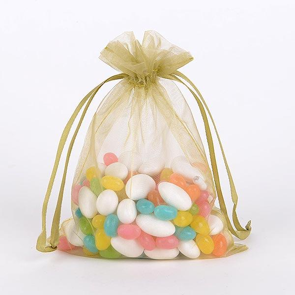 Spring Moss - Organza Bags - ( 5 x 6.5-7 Inch - 10 Bags )