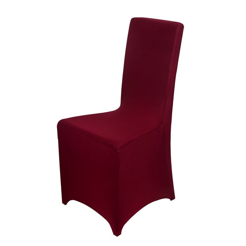 Burgundy - Spandex Banquet Chair Cover