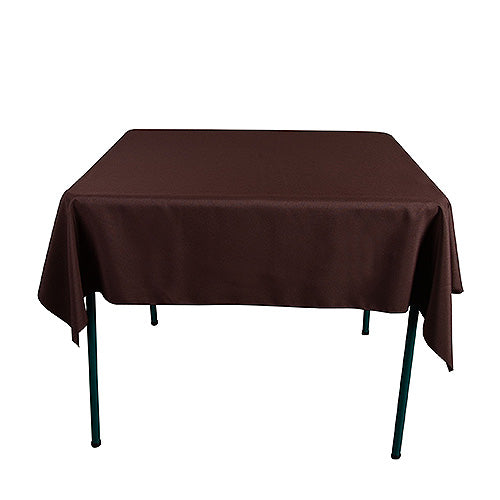 Chocolate Brown - 85 x 85 inch Polyester Square Tablecloths