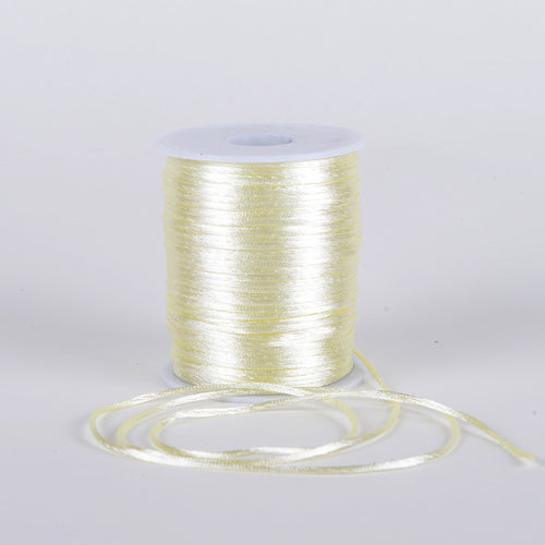 Ivory - 2mm Satin Rat Tail Cord - ( 2mm x 200 Yards )