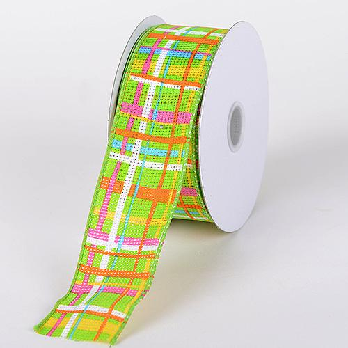 Checkered Wired Ribbon ( 2-1/2 Inch x 10 Yards ) - Q31314009