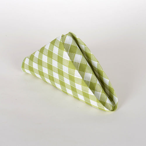 Green - Checkered/ Plaid Napkins - Pack of 4
