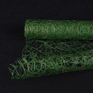 Green - Metallic Sisal Mesh Wrap -  ( 21 Inch x 6 Yards )