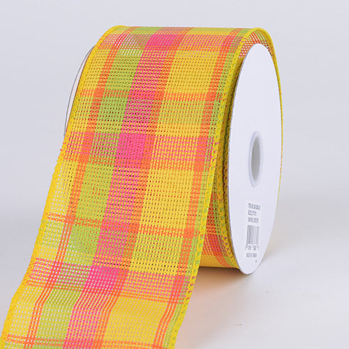 Checkered Wired Ribbon ( 2-1/2 Inch x 10 Yards ) - Q41254022