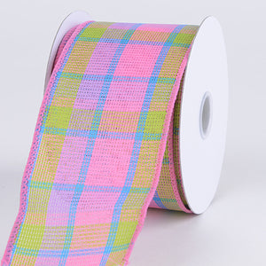 Checkered Wired Ribbon ( 2-1/2 Inch x 10 Yards ) - Q41254003