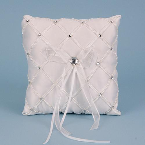 Ring Bearer Pillow White ( 7 x 7 inches ) - 5160