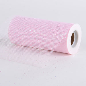 Light Pink - Premium Glitter Net - ( W: 6 Inch | L: 10 Yards )