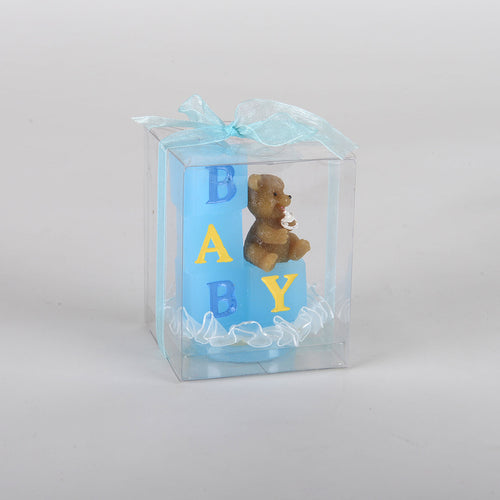 Baby Blocks Candle - Blue