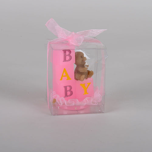 Baby Blocks Candle - Pink