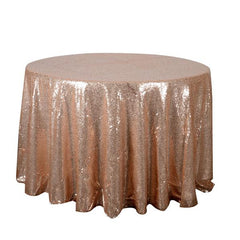 120 Inch Round Duchess Sequin Tablecloths