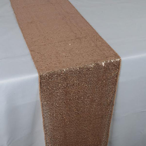 Rose Gold - 12 x 108 Inch Duchess Sequin Table Runners