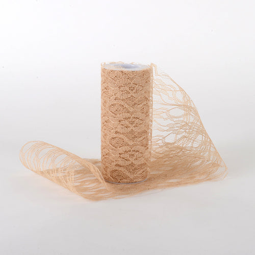 Old Gold - Lace Roll ( W: 6 Inch | L: 10 Yards )