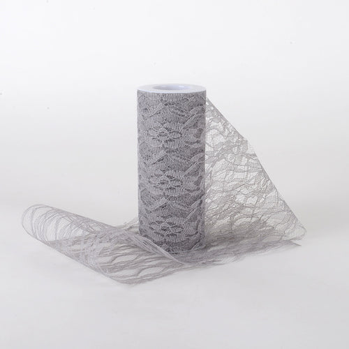 Silver - Lace Roll ( W: 6 Inch | L: 10 Yards )