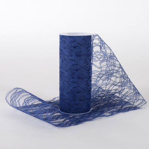 Navy Blue - Lace Roll ( W: 6 Inch | L: 10 Yards )