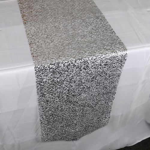 Silver Sequin Net Table Runner