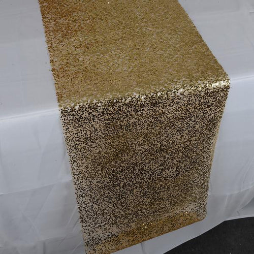 Gold Sequin Net Table Runner