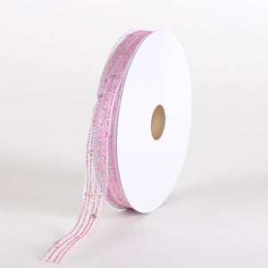 Glitter Corsage Ribbon Pink - ( 5/8 Inch 50 Yards )