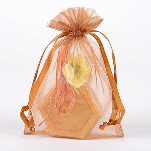 Old Gold - Organza Bags - ( 5 x 6.5-7 Inch - 10 Bags )