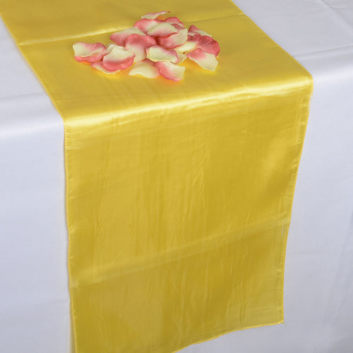 12 inch x 108 inches Daffodil Satin Table Runner